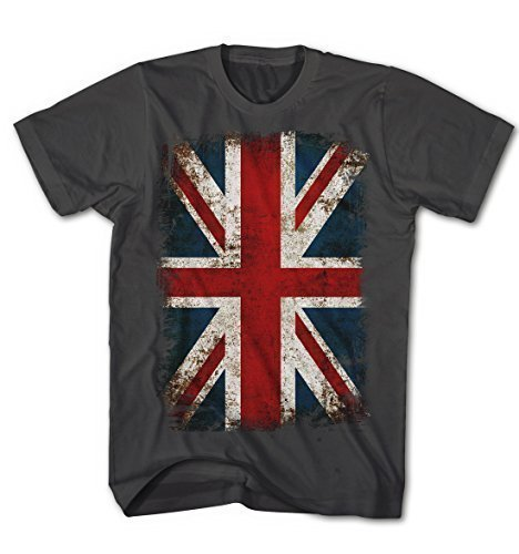 T-shirt Union Jack Flagge Vintage Grunge Rock Stil England Kult (Punk-rock-retro-t-shirt)