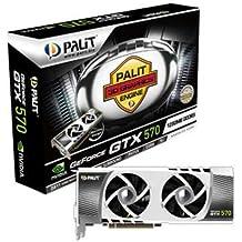 Palit Sonic Platinum NVIDIA Geforce GTX570 Grafikkarte (PCI-e, 1280MB DDR5 Speicher, Dual-DVI, Mini HDMI)