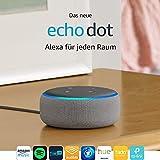 Das neue Echo Dot (3. Gen.) Intelligenter Lautsprecher mit Alexa, Hellgrau Stoff - 2