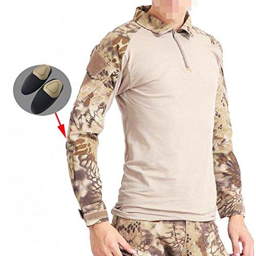 ATAIRSOFT männer BDU Combat Langarm Tarnhemd Mit Ellbogenschutz Schutz für Militärische Armee Airsoft HLD M -
