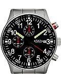 Astroavia Herren-Armbanduhr Chronograph Quarz Edelstahl N97S