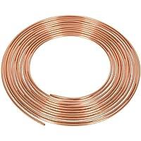 Tubo de freno de cobre, de 3/16 pulgadas, 7,5 m y 22 g + 10 tuercas