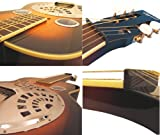 NEW SQUARE NECK DOBRO TYPE RESONATOR LAP STEEL GUITAR WITH FITTED GIG BAG