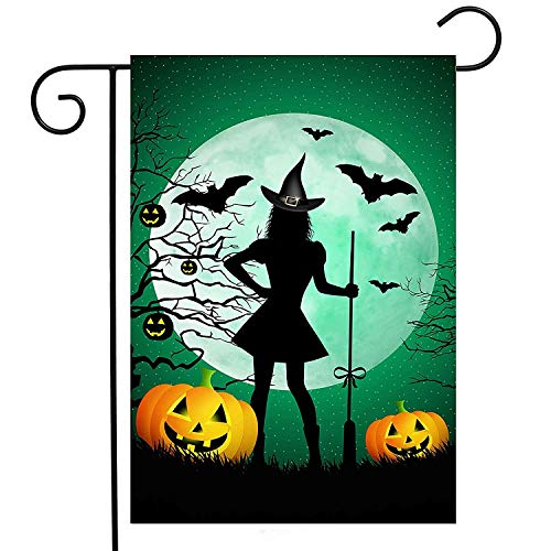 Forest Lawn Memorial (ASKYE Halloween Funny Witch Broomstick Pumpkin Garden Yard Flag Double Sided, Ghost Forest Polyester Welcome House Flag Banners for Patio Lawn Outdoor Home Decor(Size: 12.5inch W X 18 inch H))