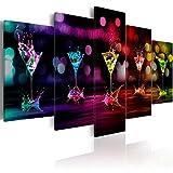murando - Bilder 200x100 cm - Leinwandbilder - Fertig Aufgespannt - Vlies Leinwand - 5 Teilig - Wandbilder XXL - Kunstdrucke - Wandbild - Abstrakt Kunst 030107-2