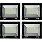 200W Led IP65 Flood Outdoor Light 1 Year Warranty - Cool Day Light - (Pack of 4)