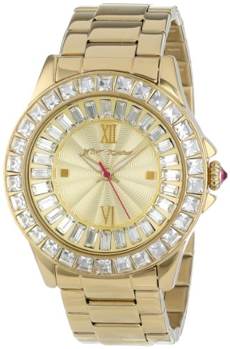 betsey-johnson-womens-quartz-watch-with-beige-dial-analogue-display-and-gold-stainless-steel-bracele
