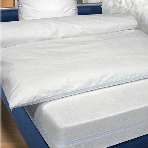 Schonbezug Bettwäsche (JEMIDI Allergie Schonbezug Hausstaubmilben für Bettwäsche und Matratze Allergiebezug Allergieschonbezug Schonbezug Allergiker Milber Matratzenbezug 90cm x 200cm)