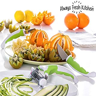 Always Fresh Kitchen Slice-Art Utensilien für Beilagen, grün, 18,5 x 11 x 5 cm