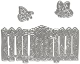 Tattered Lace Woodside Zaun, silber
