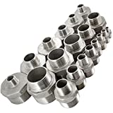 """SuperWhole 1/2""""1/4"""" Male Hex Nipple Threaded Reducer Pipe Fitting Stainless Steel 304 BSPT Bild 2"""