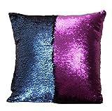 Sinotop Luxus Doppel Farbe Glitter Pailletten Kissenbezug Startseite Schlafzimmer Sofakissen Kissenabdeckung (style 6)