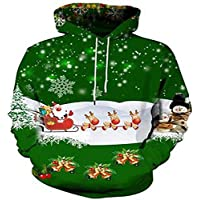 Autumn Sweater Pullover Sweater los Hombres suéter de los Hombres suéter de Navidad 3D Sudaderas,3XL.