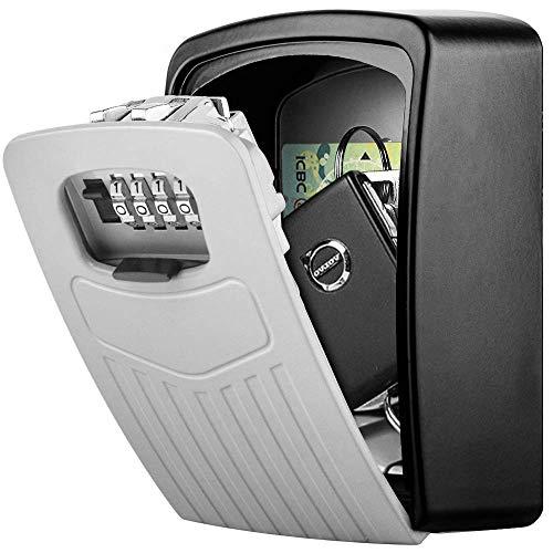 Schlüsseltresor Wandmontage BTNEEU Schlüssel Safe Groß für Schlüssel, Schlüsselsafe Aussen mit 4-stelligem Zahlencode, Gross Schlüsselbox für Draußen, Innen, Auto, Zuhause, Garage