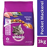 Whiskas Dry Cat Food, Mackerel Flavour for Adult Cats (+1 Year) – 3