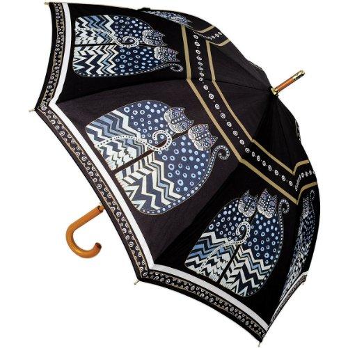 laurel-burch-laurel-burch-polka-dot-cats-stick-umbrella