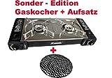 Doppel Camping - Gaskocher Metall Schwarz Sonderedition