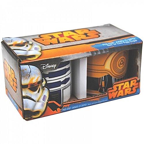 Star Wars - Keramik Eierbecher 2er Set - R2D2 & C3PO - verpackt in einer - Toy Story 4k
