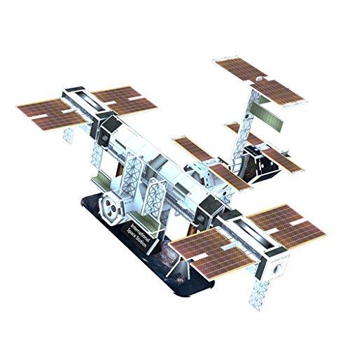 MagiDeal Kreativ Bunt 3D Papier Modell Kartonmodell Bastelbogen Spielzeug für Kinder - Raumstation (Papier Modell Autos)