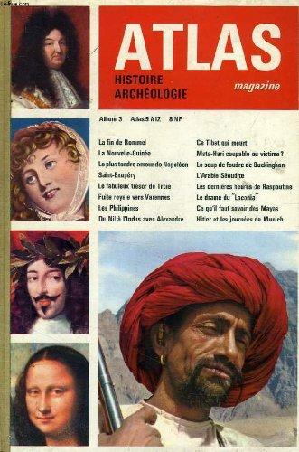 ATLAS MAGAZINE, HISTOIRE, ARCHEOLOGIE, ALBUM N° 3, N° 9-12, 1961