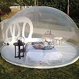 Rsen Aufblasbares Blasen-Zelt-Haus, Familien-Camping-Hinterhof-Transparente Luft-Hauben-Zelte mit freiem Cer/UL-Gebläse und Reparaturinstallationssatz, B, 5*8m