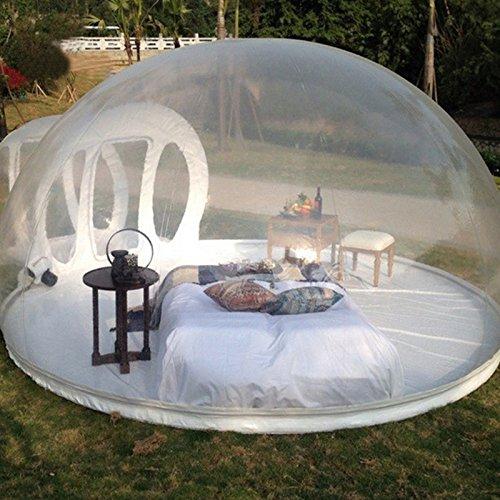 YOOL Aufblasbares transparentes Zelt-Haus, regendichtes Schaum-Luft-Hauben-Zelt...