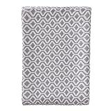 """URBANARA Tagesdecke """"Viana"""" - 100% Reine Baumwolle, Natur/Weiß mit geometrischem Diamantmuster - 180 x 230 cm, Bett-Überwurf, Plaid, Sofadecke, Wohndecke …"""