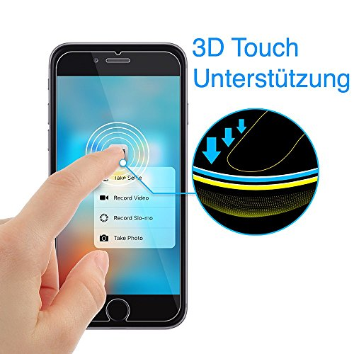 XeloTech iPhone 8 / iPhone 7 Premium Panzerglas Folie mit Schablone für hohe Passgenauigkeit | Unterstützt 3D Touch| Sehr hohe Qualität . - 3