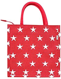 EB1005 White Star Jute Handbag