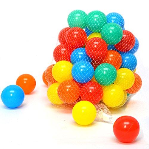 �r Babys ab Null 50 Baby Bällebad Bälle 5,5cm Kinder Ball Spielzeug Bälle fürs Bällebad Mädchen Jungen (Geburtstag Deko Ideen Im Haus)