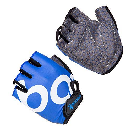 Asvert Guantes Bicicleta Dedo Medio con Gel Almohadillas para Ciclismo Hombre Mujer Unisex Transpirables y cómodas para Absorber Vibraciones de Verano