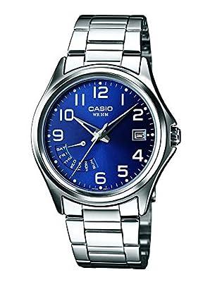 Casio Reloj Analógico para Hombre de Cuarzo con Correa en Acero Inoxidable MTP-1369PD-2B