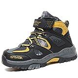 ASHION Botas de Nieve, Zapatos de Algodón Zapatillas de Trekking para Niños Zapatos de Escalada de Viaje Zapatos de Deporte para Niños Al Aire Libre Respirable (39 EU, Amarillo 1)