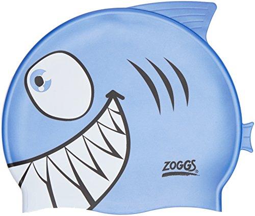Zoggs 301732 junior character silicone cap, unisex bambini, shark, taglia unica