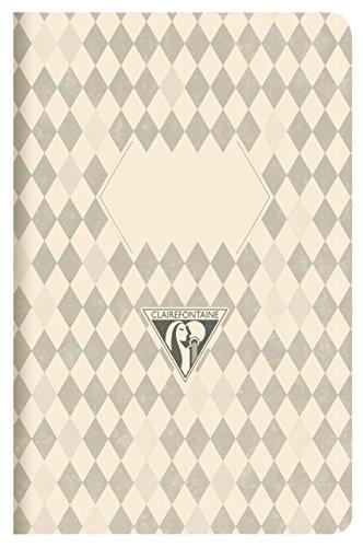 clairefontaine-105236-c-a5-rayas-back-to-basics-cuaderno-de-lomo-cosido-color-gris-oscuro-pack-de-3