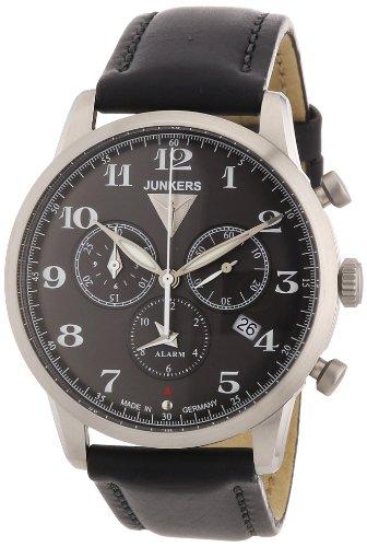 Junkers Men's Quartz Watch Dessau 1926 Flatline 63802 with Leather Strap