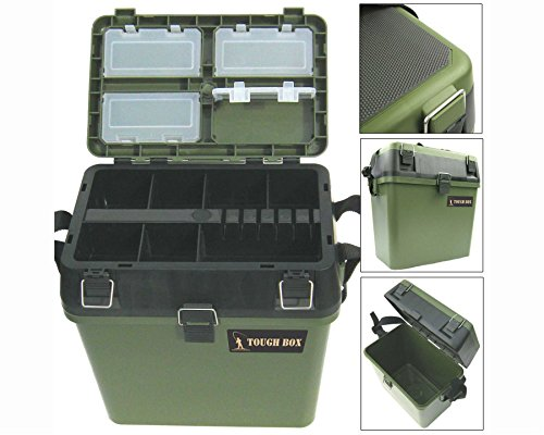 Fishing-Tackle-Seat-Box-Includes-Padded-Strap-Seat-Pad-Very-Strong-Freepost