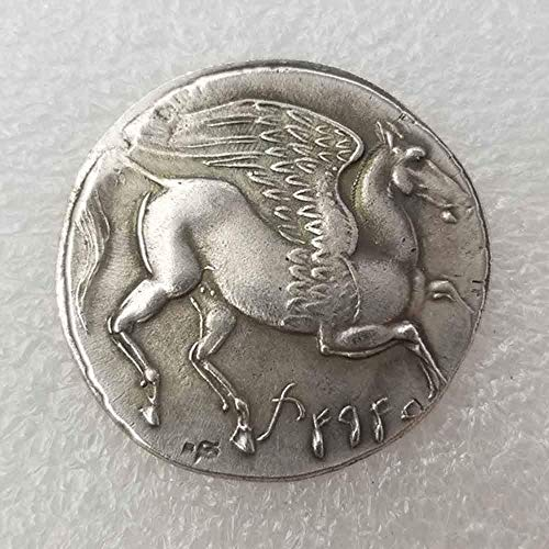 DDTing Ancient griechische Gedenkmünzen - Sammlerstück große Münze - griechische Mythologie - griechische Göttin Lehrwerkzeug für Kinder - Handarbeit