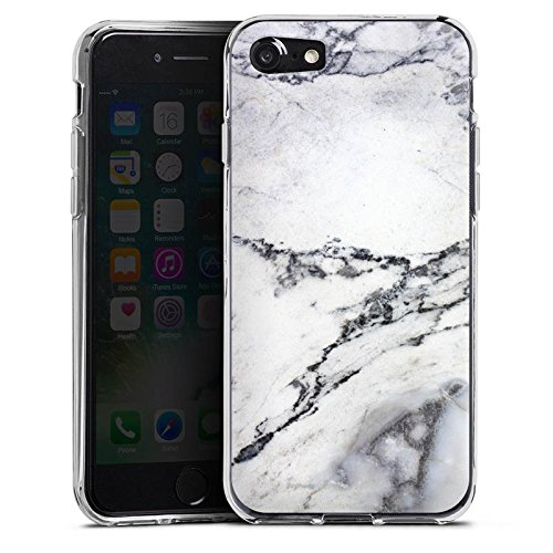 Apple iPhone X Silikon Hülle Case Schutzhülle Stein Marmor Marble Look Muster Silikon Case transparent