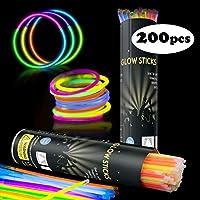 Applife Braccialetti Luminosi Starlight Fluorescenti BRACCIALI Disco Fluo DJ