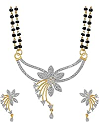 YouBella Latest Traditional Jewellery Gold Plated Jewellery Set for Women (Golden)(YBMS_7503)