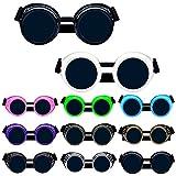 Dreamworldeu Steampunk Antique Copper Cyber Spikes Brille Goggles Retro Goth Vintage Welding Punk Cosplay Brille Augenlinse Sonnenbrillen 5
