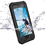 ZVE Coque iPhone 6/6S, Coque Etanche Antipoussière Neige Anti Pluie Antichoc Boîtier Splash-proof Case Housse Etui Sport Couvercle Sac Pare-chocs avec Ecran Protecteur pour iPhone 6S/6 Noir