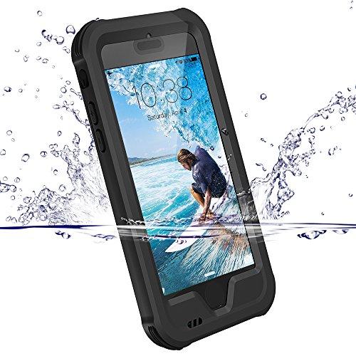 Coque iPhone 6 / 6S, ZVE® Coque Etanche Antipoussière Neige Anti Pluie Antichoc Boîtier Splash-proof Case Housse Etui Sport Couvercle Sac Pare-chocs avec Ecran Protecteur pour iPhone 6S / 6 Noir