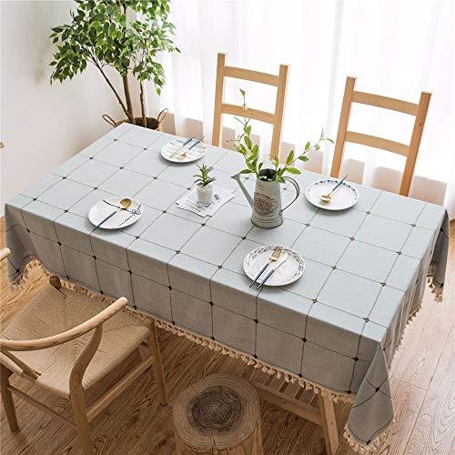 DHHY Baumwolle und Leinen Bestickt Couchtisch Tischdecke Jacquard-Bezug Handtuch rechteckigen Couchtisch Tuch D 100x160cm