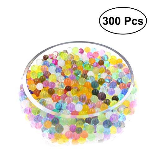 ULTNICE 300 stücke Wasser Perlen 8-10mm Regenbogen Kristall Gel Perlen für Sensorische Kinder Spielzeug, Pflanzen Dekoration - Crystal Perlen Soil