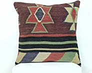 Kelim Cuscino 40x40 cm fatto a mano turco prodotto federe kilim dekorativo orientale etnici cuscino A327