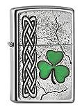Zippo Feuerzeug PL Irish Shamrock Emblem Encendedor, Cromado, Plata, Talla única