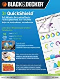 Black and Decker QuickShield Self-Adhesive Letter Size Laminating Sheets, 3-mil, 10 Pack (LET-10SHSS)