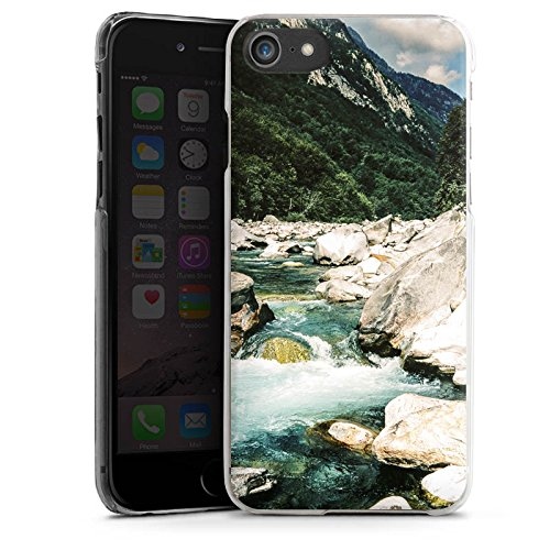 Apple iPhone X Silikon Hülle Case Schutzhülle Fluß Felsen Natur Hard Case transparent